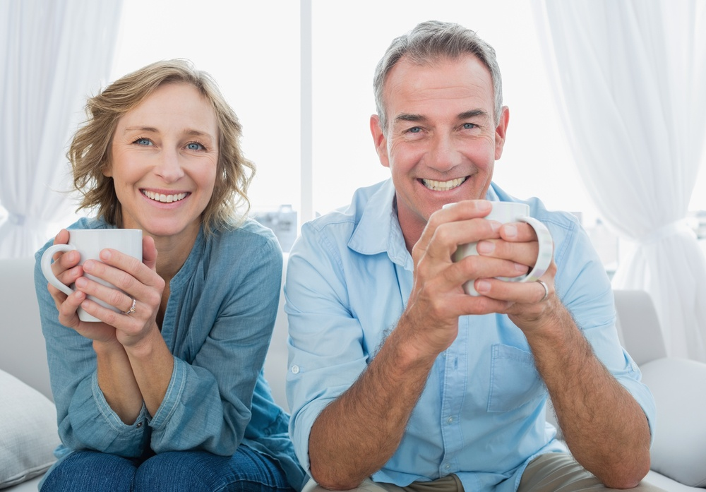 What does CBD do? middle age couple cbd health concept